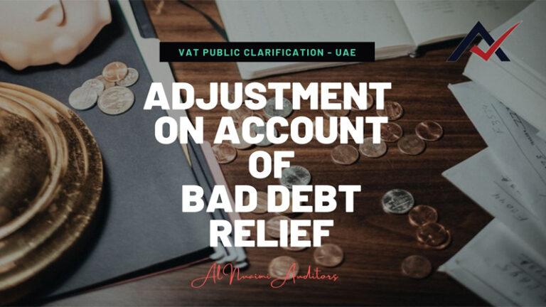Adjustment on Account of Bad Debt Relief