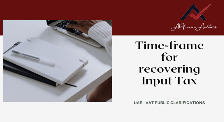 Time-frame for recovering Input Tax