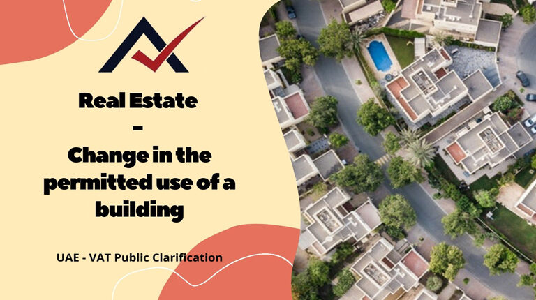 Real Estate - Change in permitted use of a building