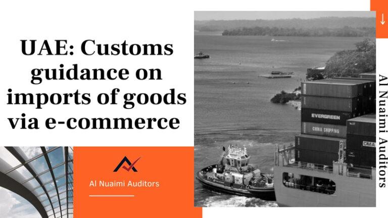 Customs guidance on imports of goods via e-commerce
