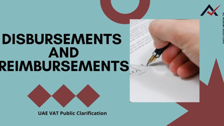 UAE VAT Disbursements and Reimbursements