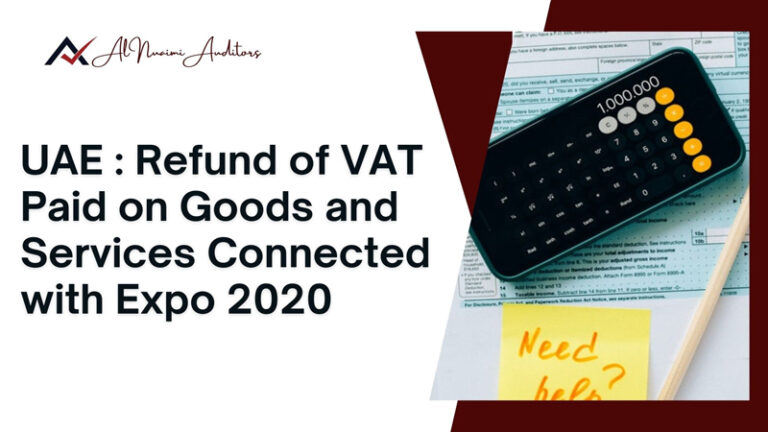 Refund of VAT Paid on Goods and Services Connected with Expo 202