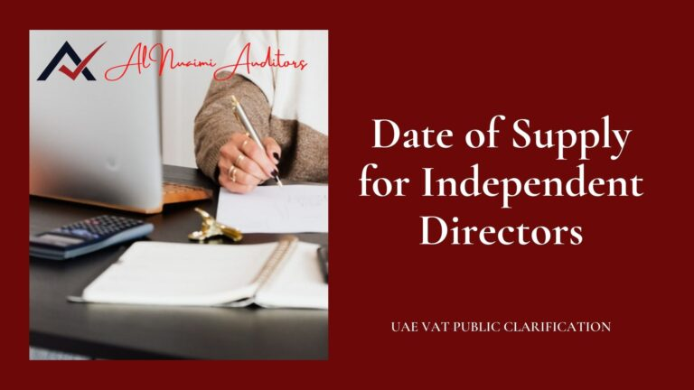 Date of Supply for Independent Directors