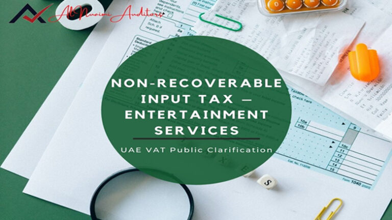 Non-recoverable input tax entertainment service