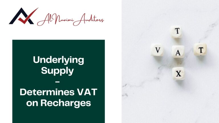 Underlying Supply - Determines VAT on Recharges